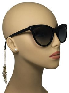 Chanel Black Cat Eye Gold Chain Sunglasses 5341-H c.622/S6 58