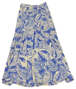 Free People Maxi Skirt Blue and white