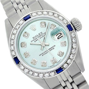 Rolex Rolex Ladies Datejust 6917 Ice blue dial. Sapphire and Diamond Watch