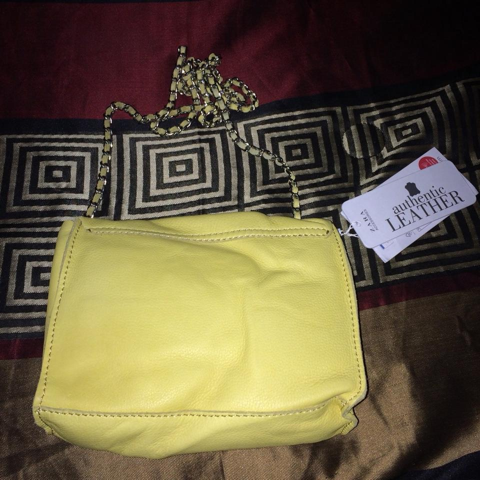 Zara Bright Yellow Shoulder Bag 53