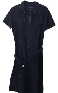 Ann Taylor short dress Denim Blue on Tradesy