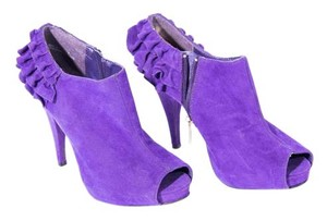 Dollhouse Peep Toe High Heels Purple Sandals