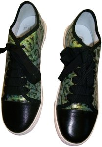 Lanvin Green Animal Print with Black Athletic