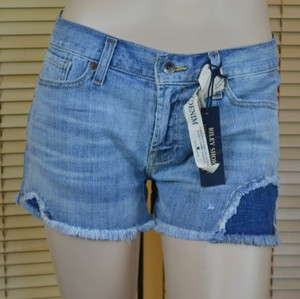 Lucky Brand Casual Denim Low Rise Cut Off Shorts Blue