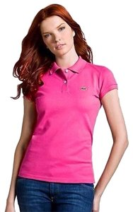 Lacoste Polo Button Down Shirt Hot Pink