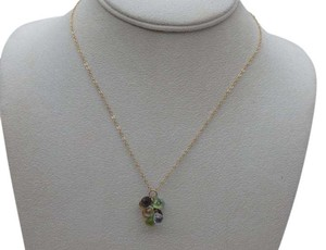 Tiffany & Co. 18k & Briolette multi gem stone necklace 16