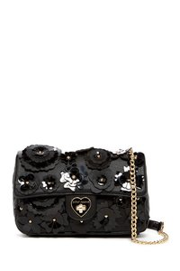 Betsey Johnson Le Jardin Floral Faux Leather Cross Body Bag