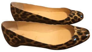 Christian Louboutin Tan and Black Leopard print Flats