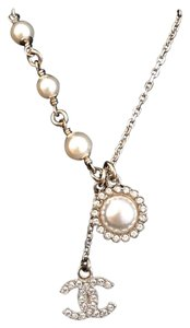 Chanel CC Logo Pearl Necklace