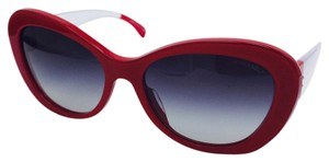 Chanel Chanel Butterfly Red and Clear Sunglasses 5264 c.1343/S6 57