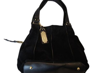Tignanello 3 Compartments Suede Organization Hobo Bag