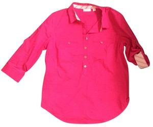 New York & Company Button Down Shirt pink