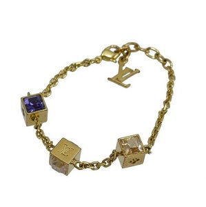 Louis Vuitton Gold-Tone Swarovski Gamble Bracelet