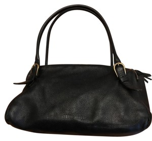 Miu Miu Leather Satchel in Black