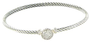 David Yurman David Yurman Chatelaine Bangle Bracelet Diamond 0.16cts Sterling 925