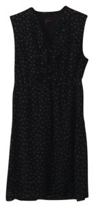 Merona short dress black with gray polka dots on Tradesy