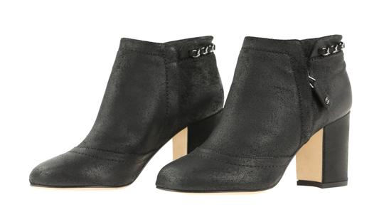 Chanel Cc Waxed Chain Glitter Waxed Leather Black Boots Image 3