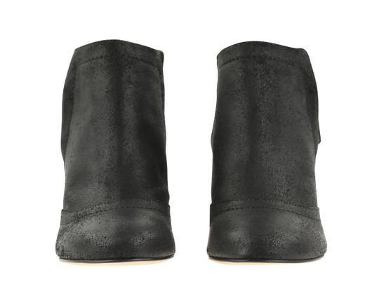 Chanel Cc Waxed Chain Glitter Waxed Leather Black Boots Image 4