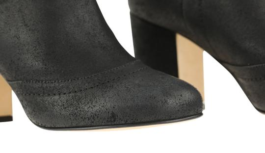 Chanel Cc Waxed Chain Glitter Waxed Leather Black Boots Image 6