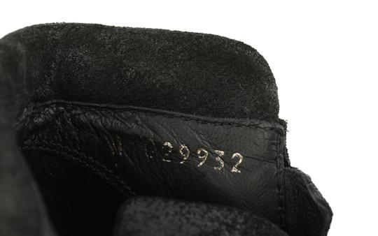 Chanel Cc Waxed Chain Glitter Waxed Leather Black Boots Image 8