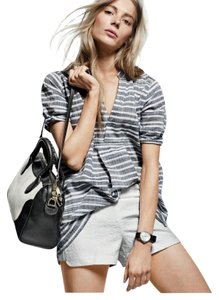J.Crew Satchel in black white
