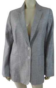 Halogen Lightweight Long Linen Blend Anthropologie Silver Gray Blazer