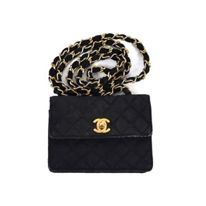 Chanel Vintage Mini Quilted Flap Cc Shoulder Bag