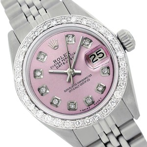 Rolex Rolex Ladies Datejust 6917 Pink Dial Genuine Diamonds Bezel Watch