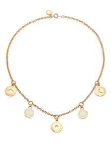 Marc by Marc Jacobs New Classic Cosmic Coins GoldPlated Necklace ~NEW
