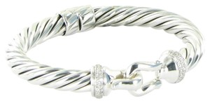 David Yurman David Yurman Cable Buckle Bracelet Diamonds 0.43cts Sterling Silver