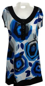 Maurices short dress Black and Blue Buttons Short Sleeves on Tradesy
