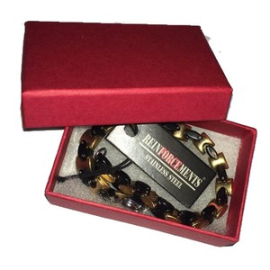 reinforcements black & gold SS bracelet