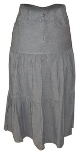 Polo Ralph Lauren Maxi Prairie Skirt Grey