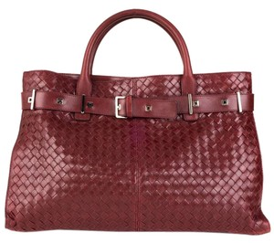 Bottega Veneta Satchel in Wine red
