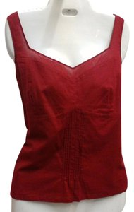Ann Taylor LOFT Vintage Red Formal Sleeveless Top Burgundy