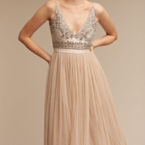 Needle & Thread Rose / Taupe / Champagne Bhldn's Needle And Thread Brisa Bridesmaid Dress Dress