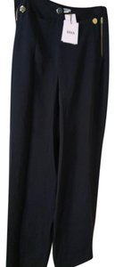 ISSA London Wide Leg Pants Navy