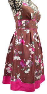 Guess short dress Floral Print Spaghetti Straps Pink Floral Empire Waist on Tradesy