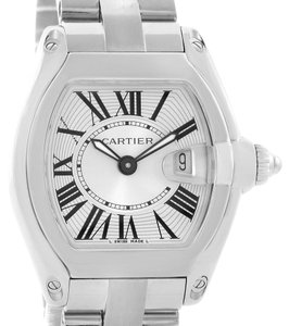 Cartier Cartier Roadster Silver Dial Ladies Watch W62016V3 Box Papers Strap