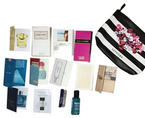 Prada assorted perfume sample and eye makeup remover