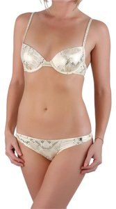 Balmain Balmain Paris Women Gold Snake Printed Push-Up Bikini 2 Pcs Set IT 40