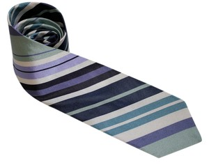 Ted Baker $110 Ted Baker London Mens Multi-Color Stripes Necktie, Tie, 100% Imported Silk, Hand Tailored in USA