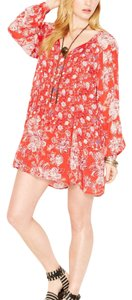 Free People short dress blood-orange on Tradesy