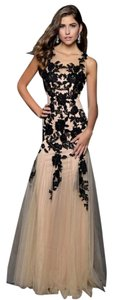 Milano Formals Lace Sheer Illusion Dress