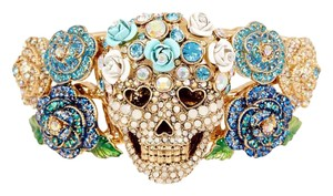 Betsey Johnson Skull Hinged Bracelet Betsey Johnson