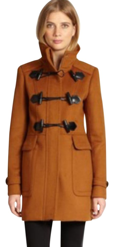 Burberry Burnt Orange Duffle With Toggle In Coat Size 2 Xs