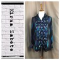 Kirna Zabete Button Down Shirt black/purple/blue