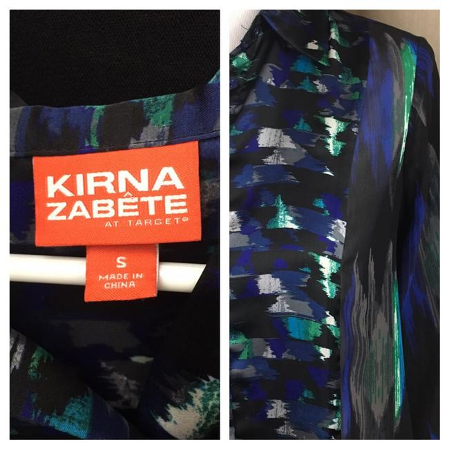 Kirna Zabete Button Down Shirt black/purple/blue Image 1
