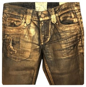Taverniti So Jeans Metallic Vintage Boot Cut Jeans-Coated