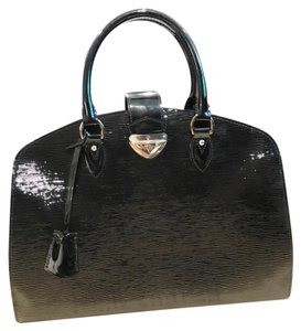 Louis Vuitton Satchel in Black & Silver-tone
